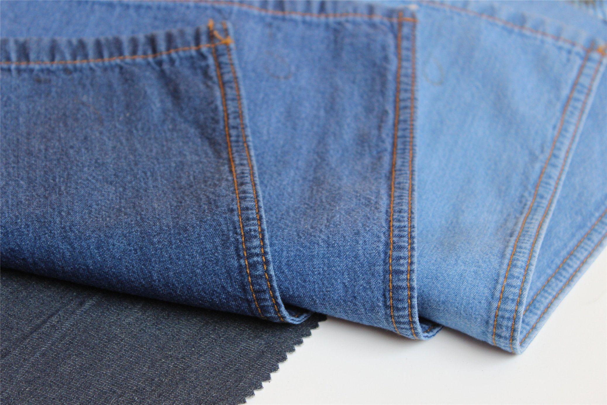 Tencel Cotton Denim Twill Indigo Denim For T-Shirt and Blouse Garments