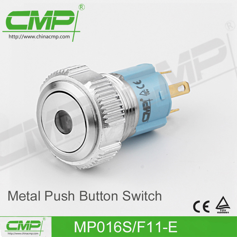 16mm Waterproof Push Button Switch with DOT Head
