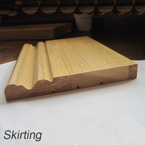 135mm Solid Wider Oak Skirting
