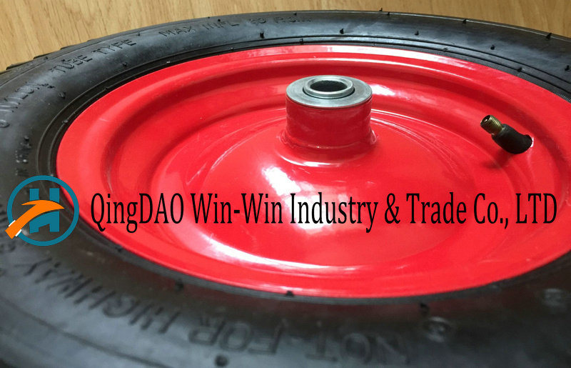 4.00-8 /400-8 Pneumatic Rubber Wheel with Steel Rim