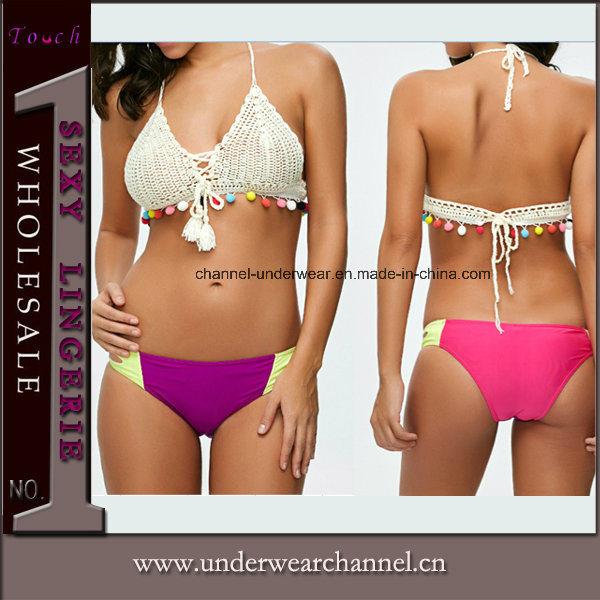Women Bathing Suit Crochet Swimming Wear Lingerie Swimsuit Swimwear Bikini (TKYA269)