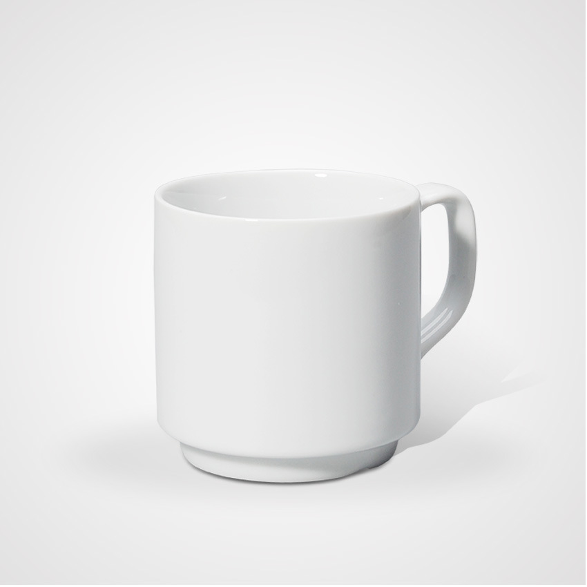 Hot Sale Porcelain Family Plain Mug with High Quality