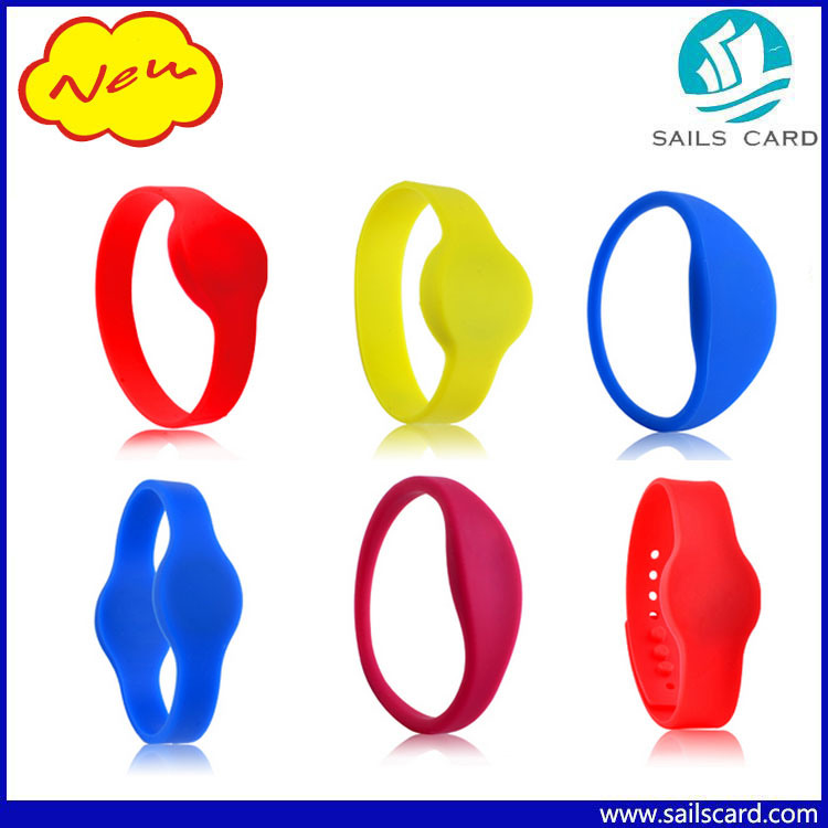 125kHz 13.56MHz Silicone RFID Wristbands for Sauna/Gyms