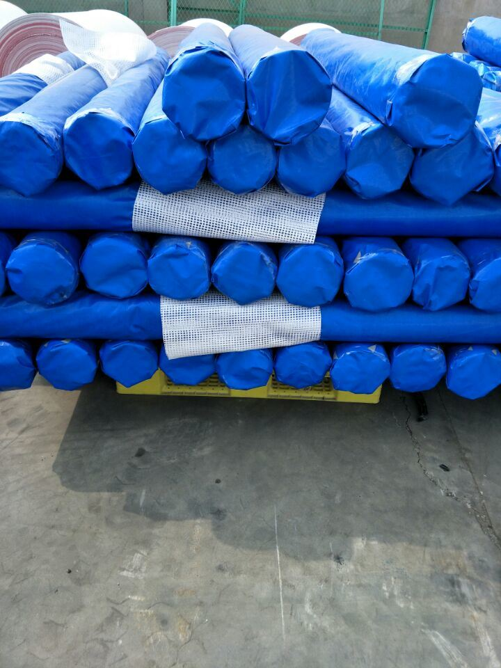 PE Tarpaulin, Tent Material, Waterproof Outdoor Plastic Cover, Blue Poly Tarp, HDPE Fabric