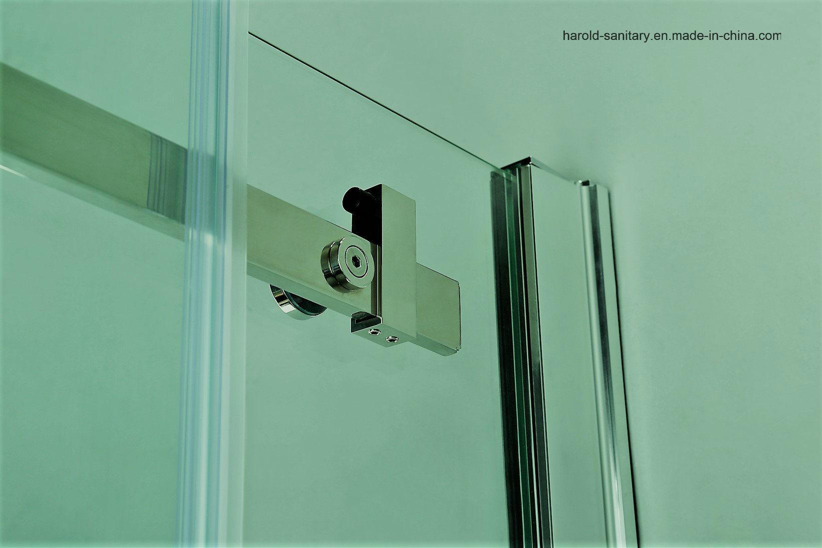 Hr-05-K L-Shape Stainless Steel Roller Sliding Shower Screen