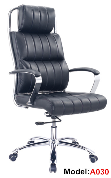 Popular Executive Eames Manager Leather Office Metal Boss Chair (A030)