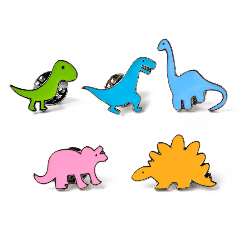 Dinosaur Enamel Pin Badge Fashion Shirt Jacket Lapel Kids Fun Accessories