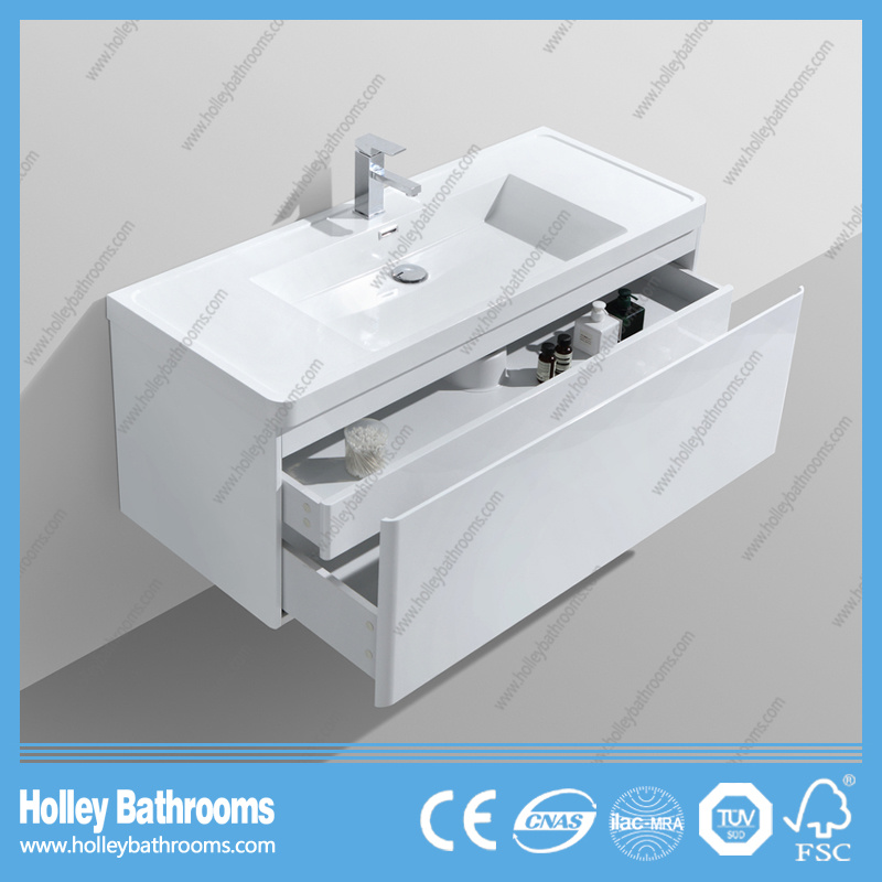 Top Grade Bathroom Furniture with Touch Switch LED and Horse Metal Drawer (BF323D)