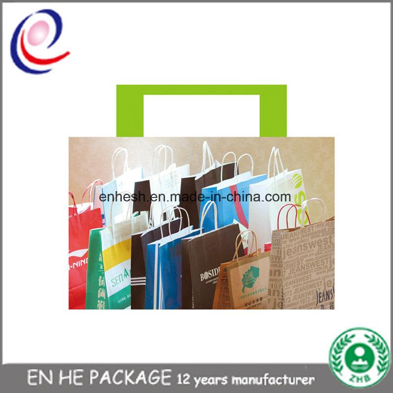 Printing Cheap Brown Kraft Paper Carrier Bags Paper Bag