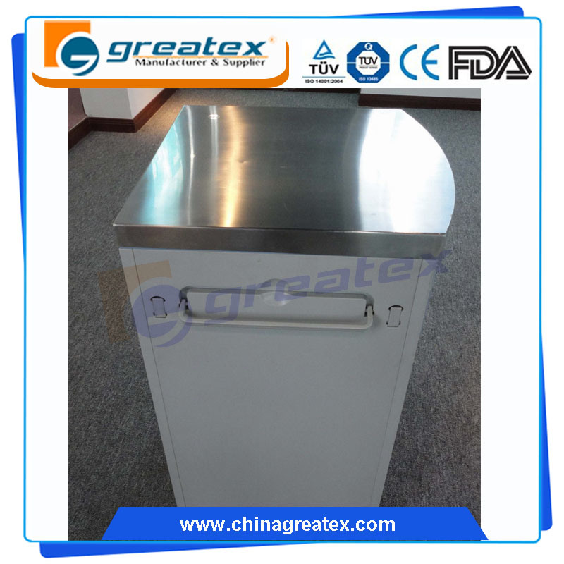 Hospital Beside Cabinet for Hospital Room with Castors with Stainless Steel on The Top (GT-TA036)