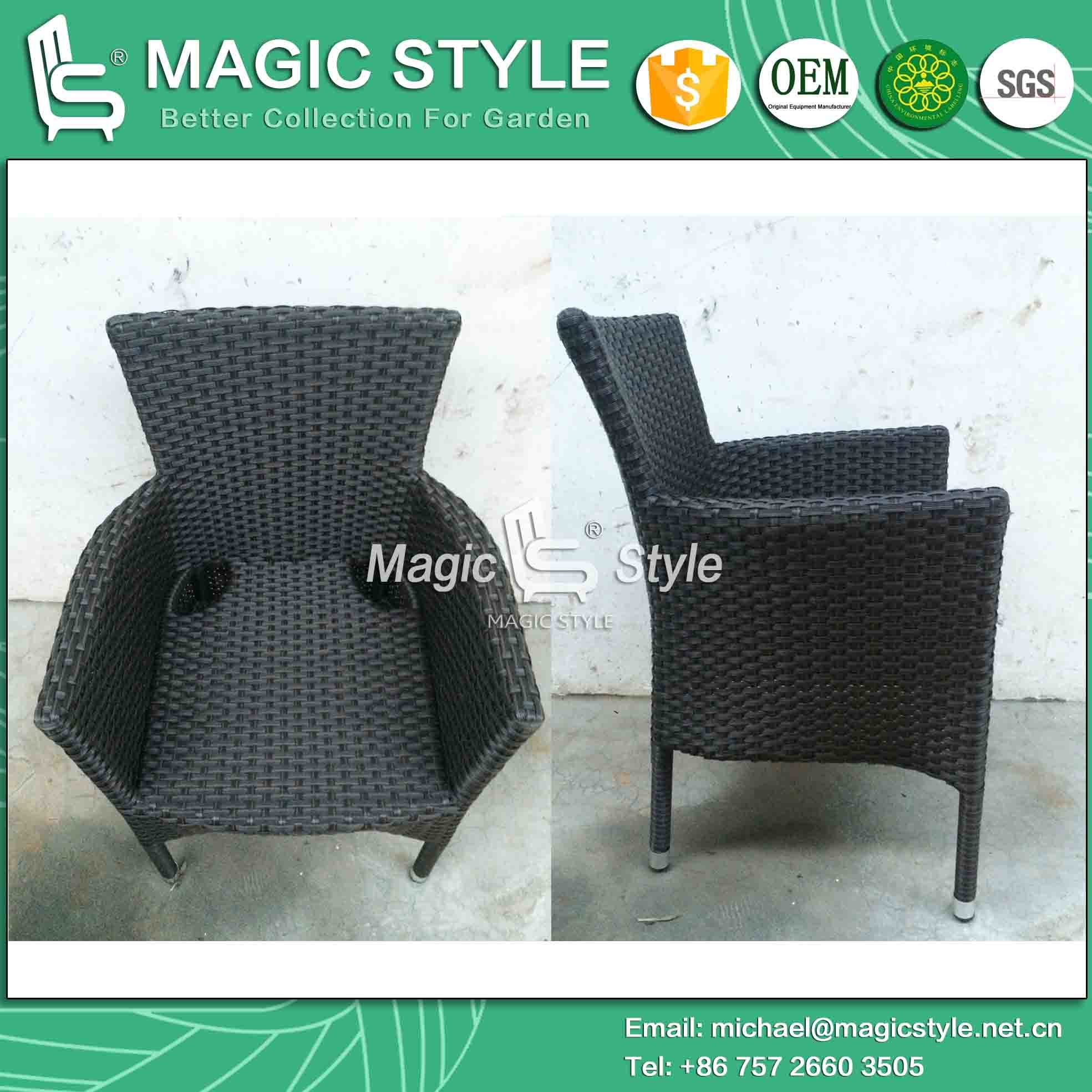 Three Colors Outdoor Stackable Dining Chair for Hotel Project