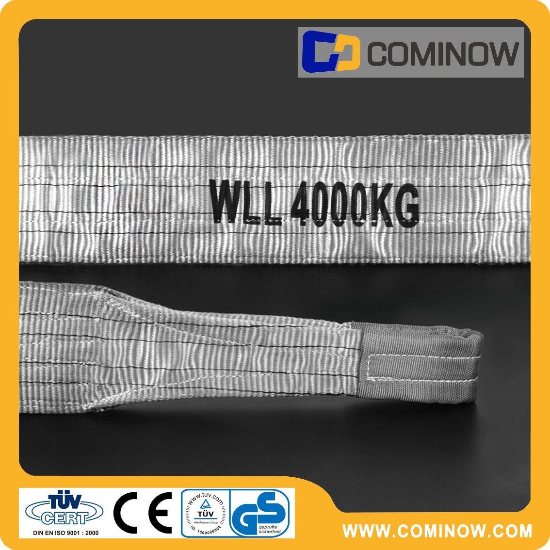 4000kgs Polyester Flat Webbing Slings Double Ply Eye to Eye Type En1492-1 with Ce&GS