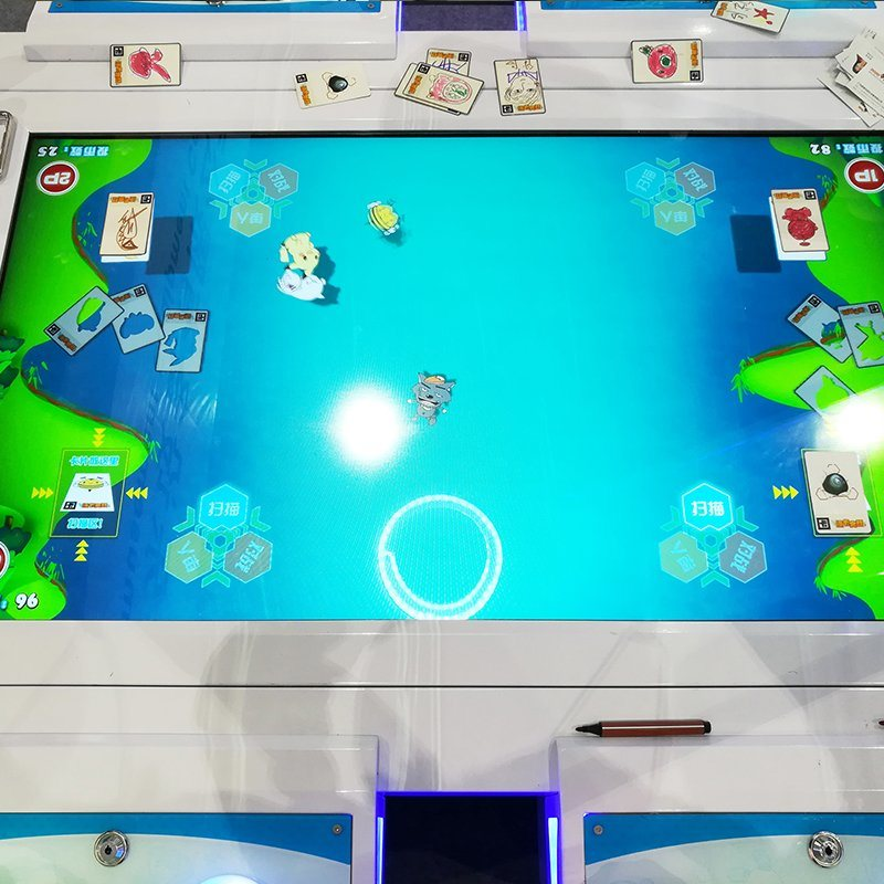 Big LED Screen Card Drawing and Gun Fighting Amusement Game Machine with Ar Technical for Children Playground Center