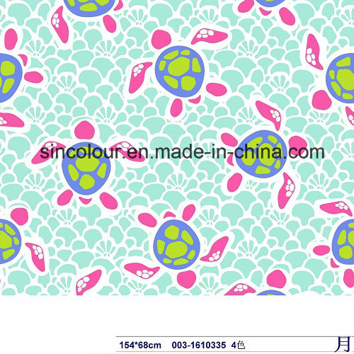 Tortoise Printing for Swimwear 80%Nylon 20%Spandex Fabric for Swimwear for Swimwear