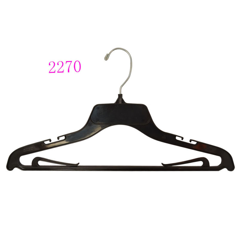 Brand Luxury Hotel Black No Slip Custom Plastic Laundry Hanger for Shop