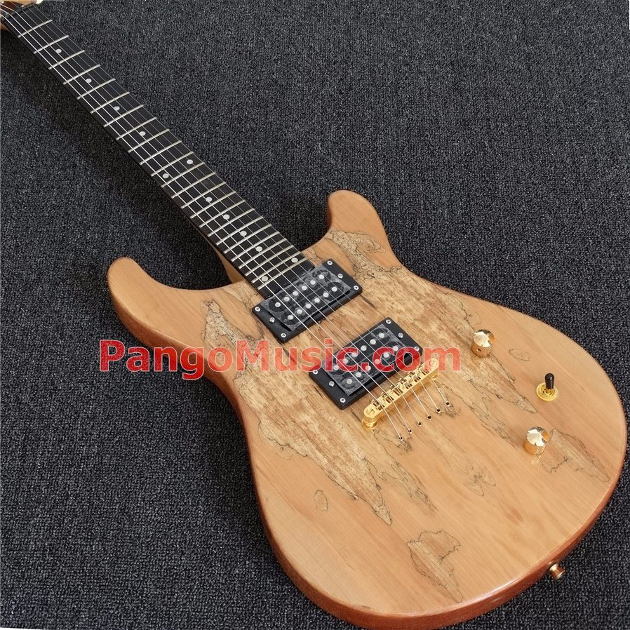 Pango Music Prs Style Electric Guitar with Spalted Maple, Ebony Fretboard (PRS-305)