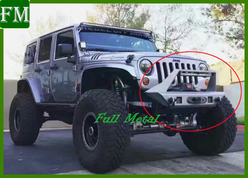 Car Heavy Duty Black Front Bumper for Jeep Jk