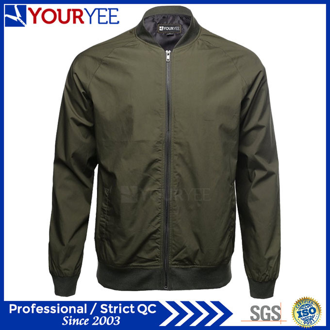 Best Price High Quality Mens Zipper up Bomber Jackets (YBJ113)