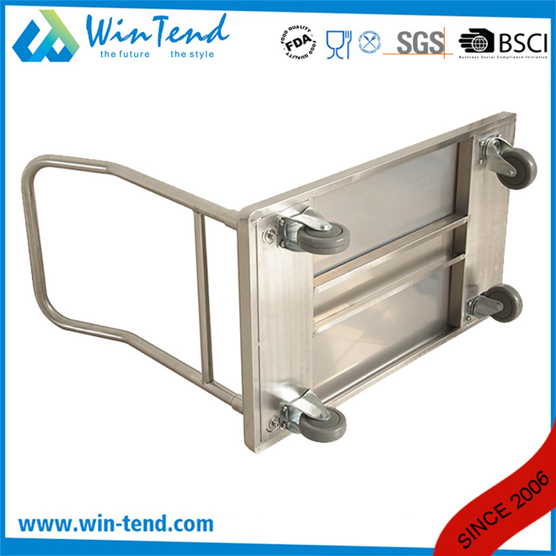 Knock-Down Structure Foldable Folding Hand Push Trolley Cart