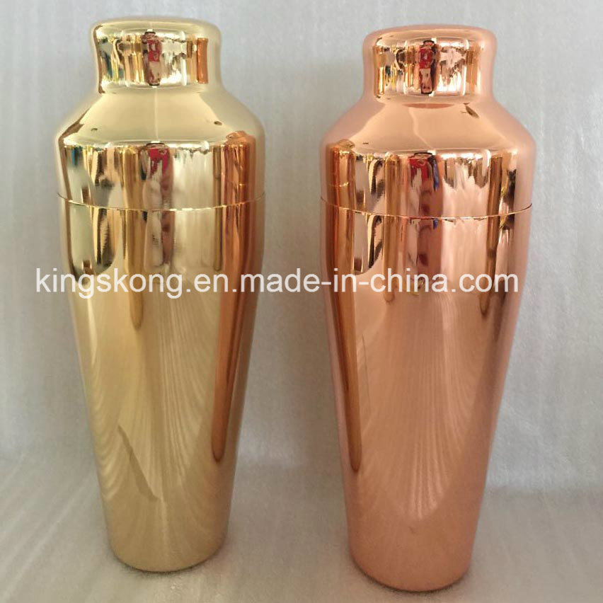 Gold or Copper Colored Drink Japanese Martini Shaker, Metal Cocktail Mixer