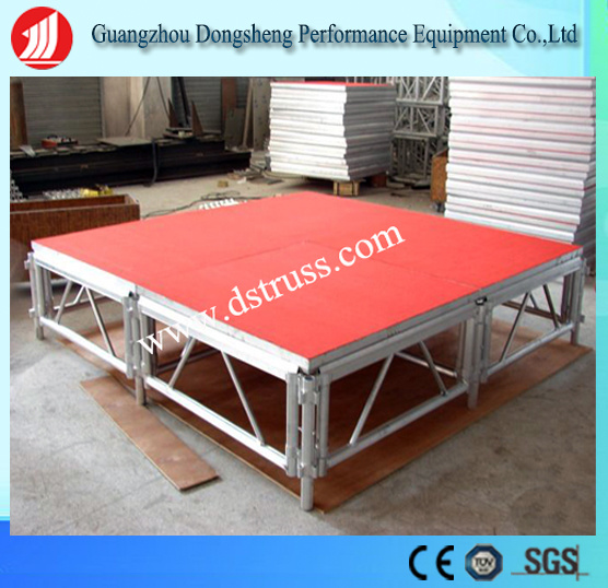 Performance Use Adjustable Folding Stage Aluminum Alloy Mobile Stage