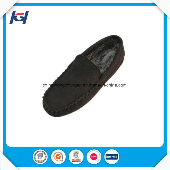 High Quality Cow Real Leather Moccasin Slippers for Men