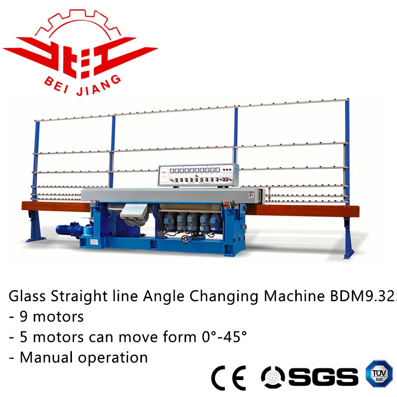 0-45 Degree 9 Motor Glass Multi Stage Edge Polishing Machine.
