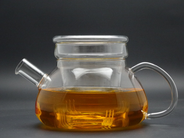 900ml Hand Made Borosilicate Single Wall Glass Teapot,