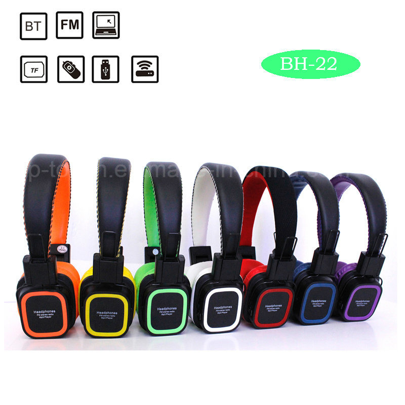 Professional Manufacturing Bluetooth Headset Support TF Card (BH-22)