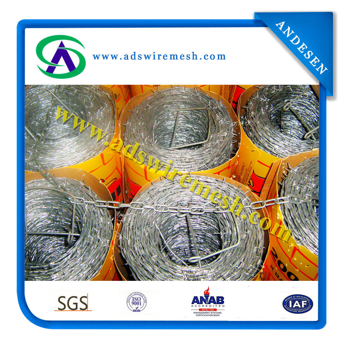 14X14# 16X16# Barbed Wire, Barbed Wire Mesh