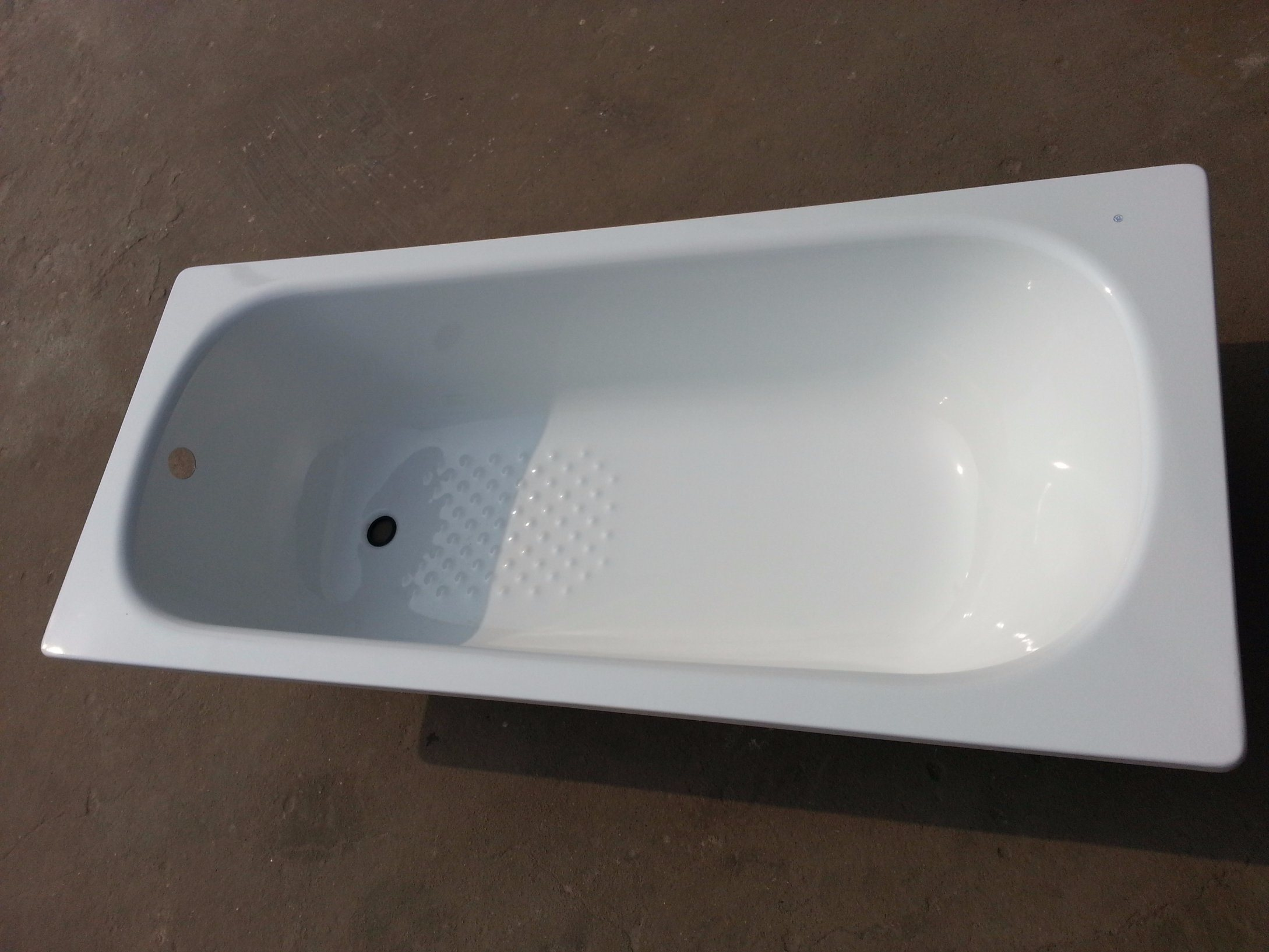 Drop-in Steel Enameled Simple Bathtub