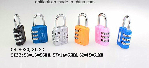 Colorful Combination Padlock, Padlock, Bag Lock (GH-8077)