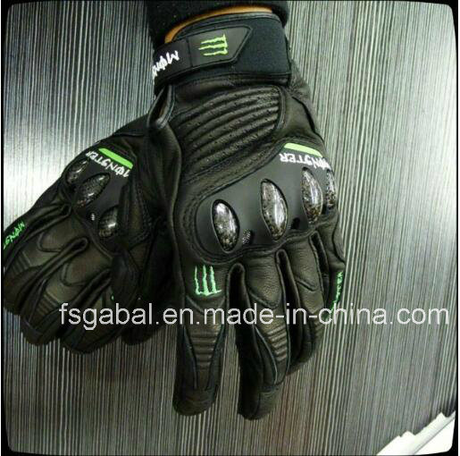 Monster Energy Racing Motorcycle Leather Sport Gloves
