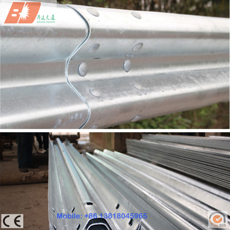 Steel Highway Guard Rail, Galvanized Guardrail Beam