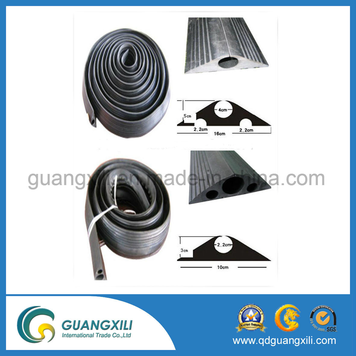 Single Hole Outdoor Rubber Protector for Cable Safety