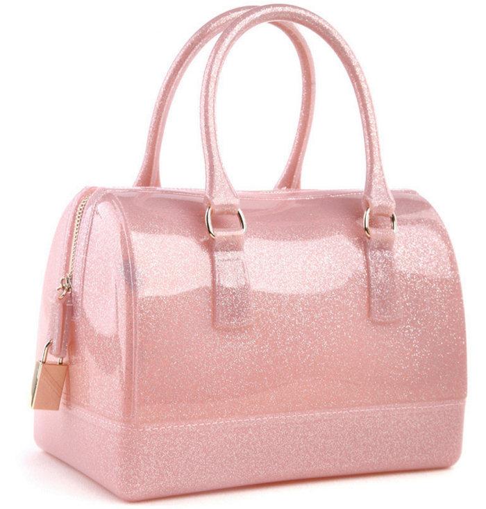 Hot Sale Candy Color Silicone Rubber Handbag Bag