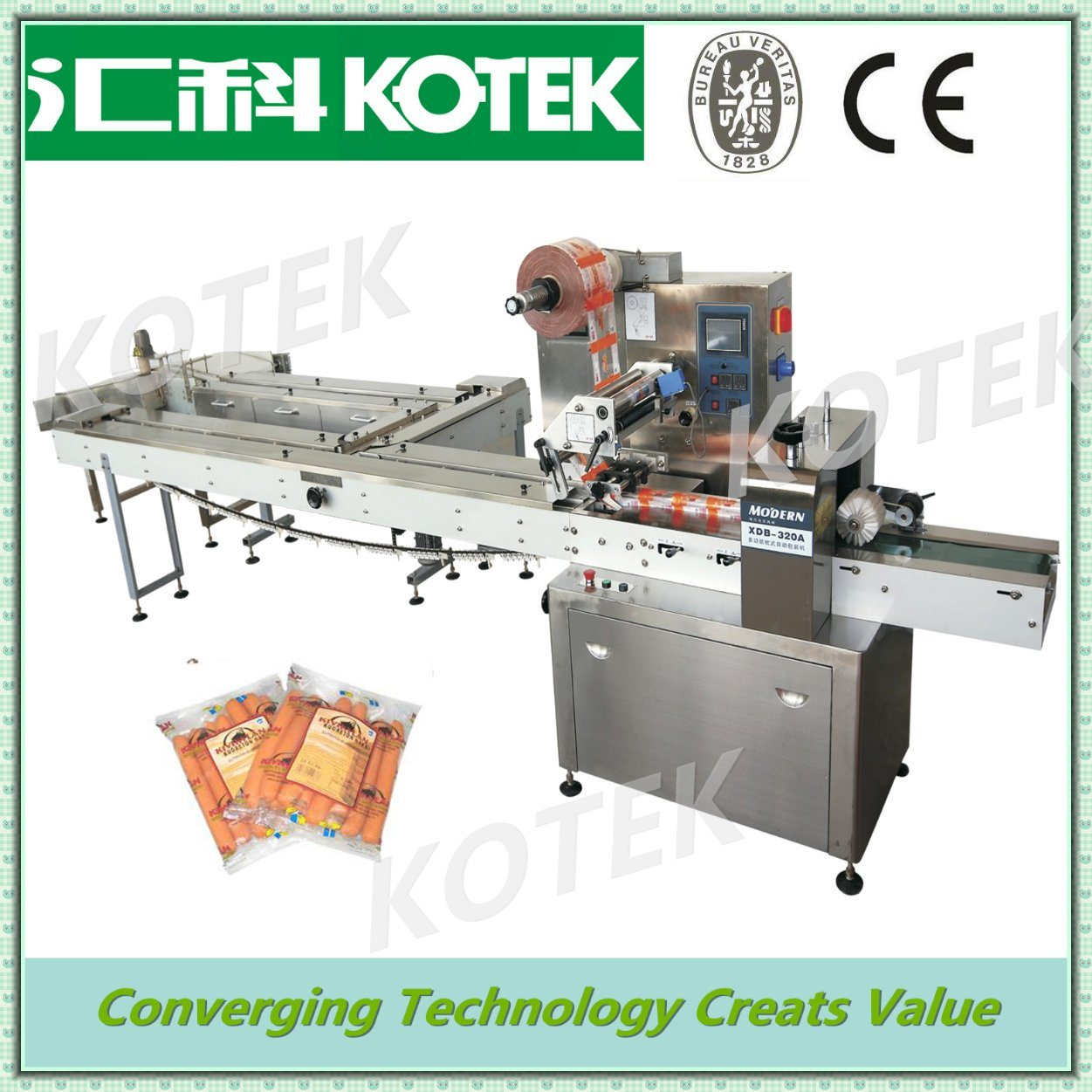 Hot Sale Horizontal Automatic Food Wrapper Machine for Sale