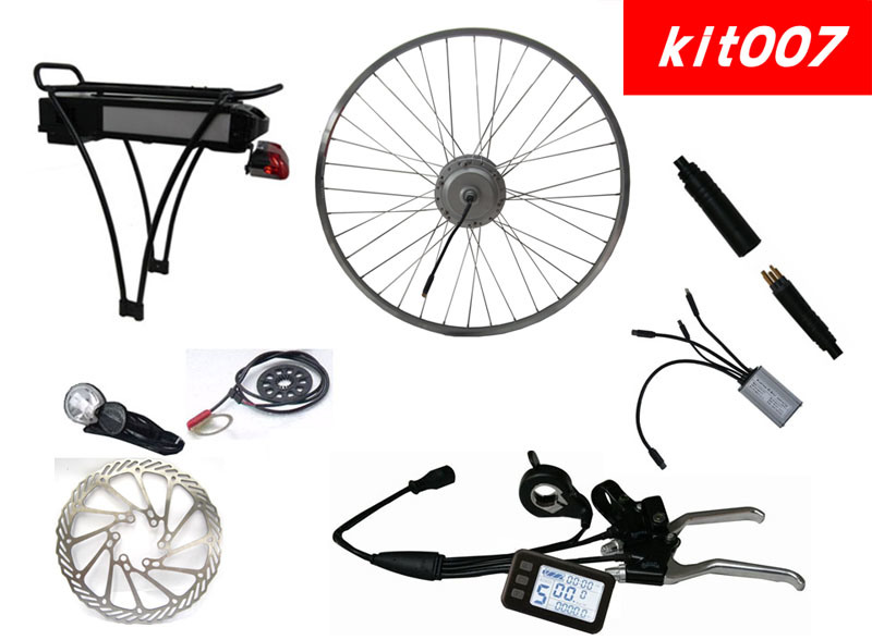 Electric Bicycle Conversion Kit with 36V LiFePO4 Battery Approved by CE, En15194