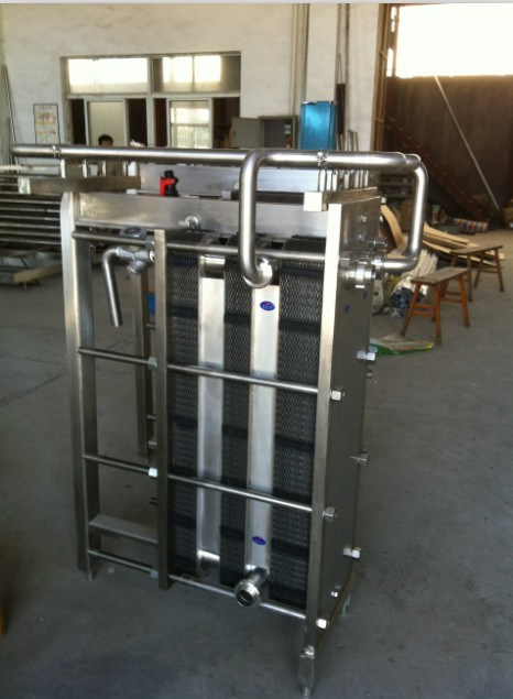 Sanitary Milk Plate Pasteurizer Plate Heat Exchanger Cooler