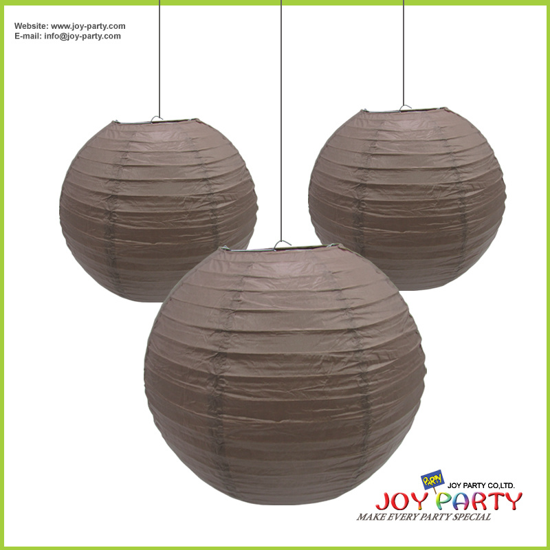 Coffee Brown Paper Lantern for Shop Decoration