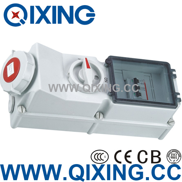 Industrial Socket with Interlock Switch and Break (QX5946)