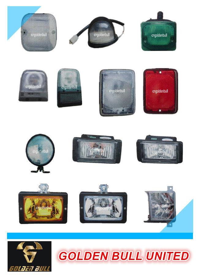 Truck Parts Auman H2 Vacuum Headlamp (double Circle)