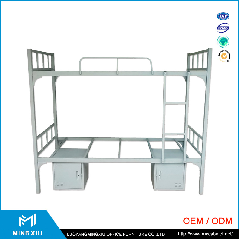 China Mingxiu School Equipment Metal Double Bunk Bed / Steel Bunk Bed