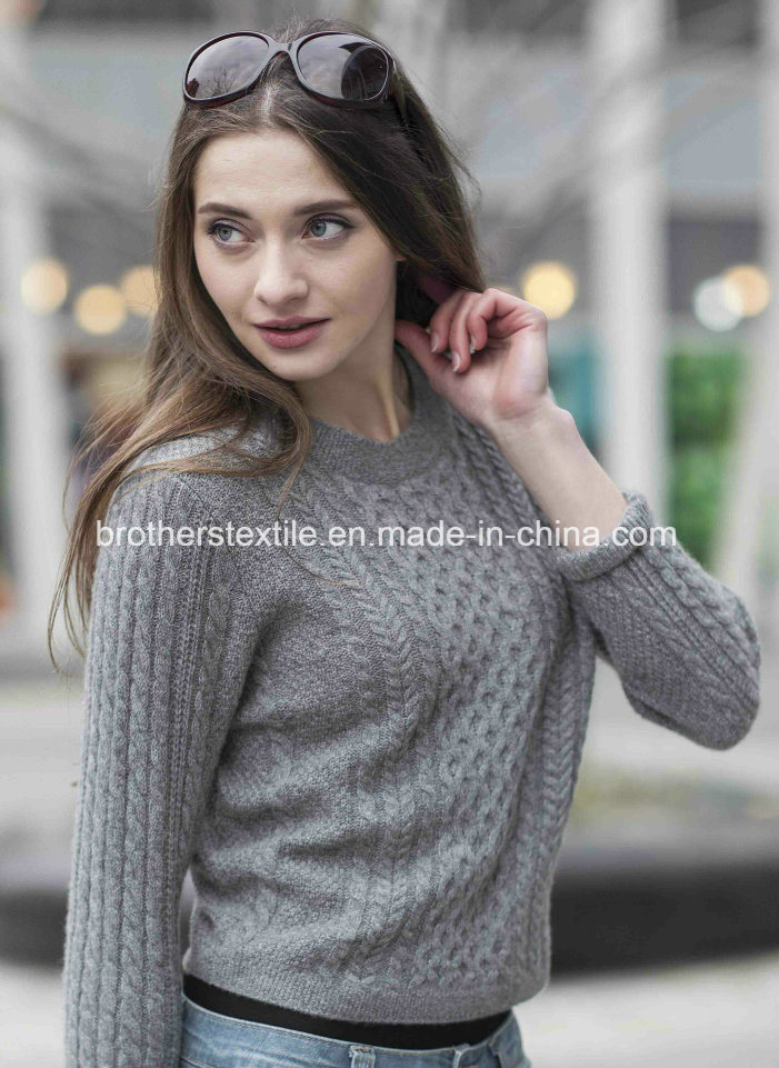 Ladies′ Cashmere Sweater with Pattern (1500002067)