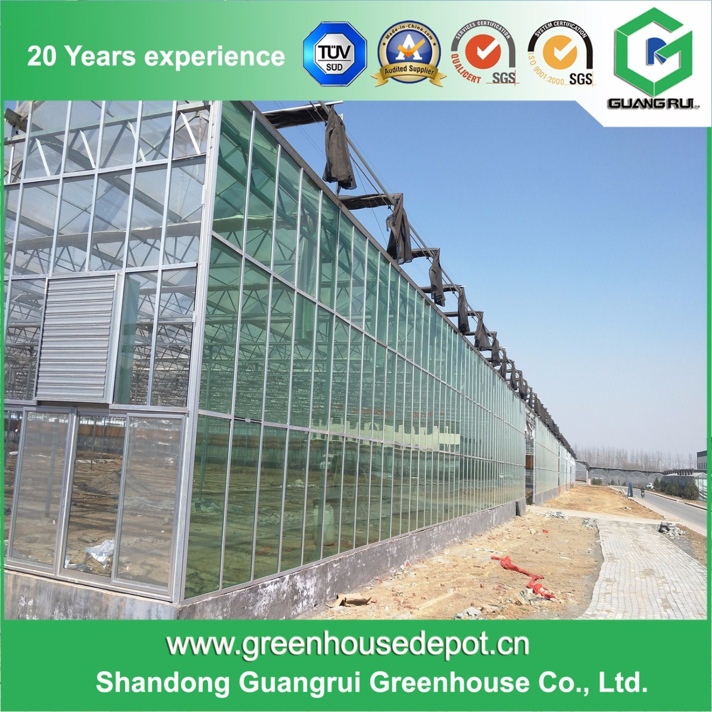 Good Price Glass Greenhouse Plastic for Modern Design on Sale