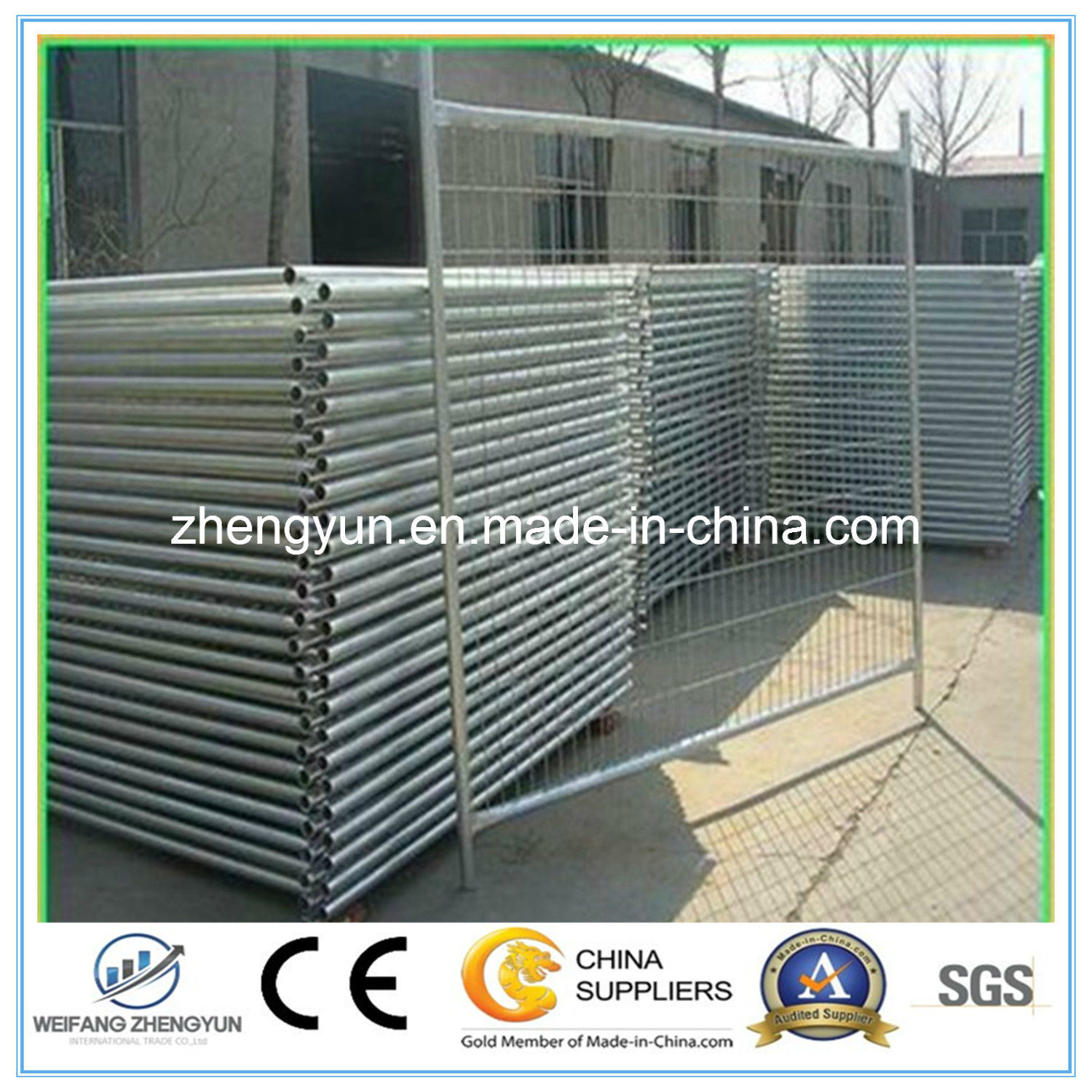 Hot Galvanized Temporary Fencing Panel