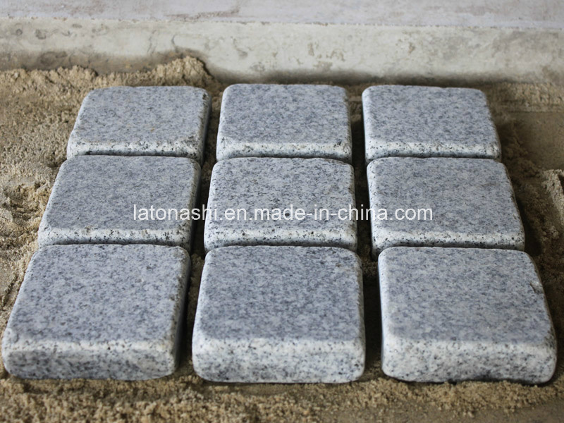 G603 Light Grey Granite Paver / Cobblestone for Road Project
