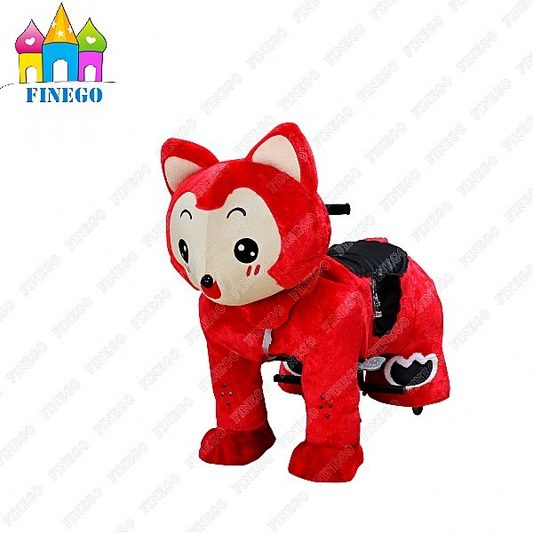 Plush Battery Motorized Coin Operated Kids Scotter Riding Walking Animal