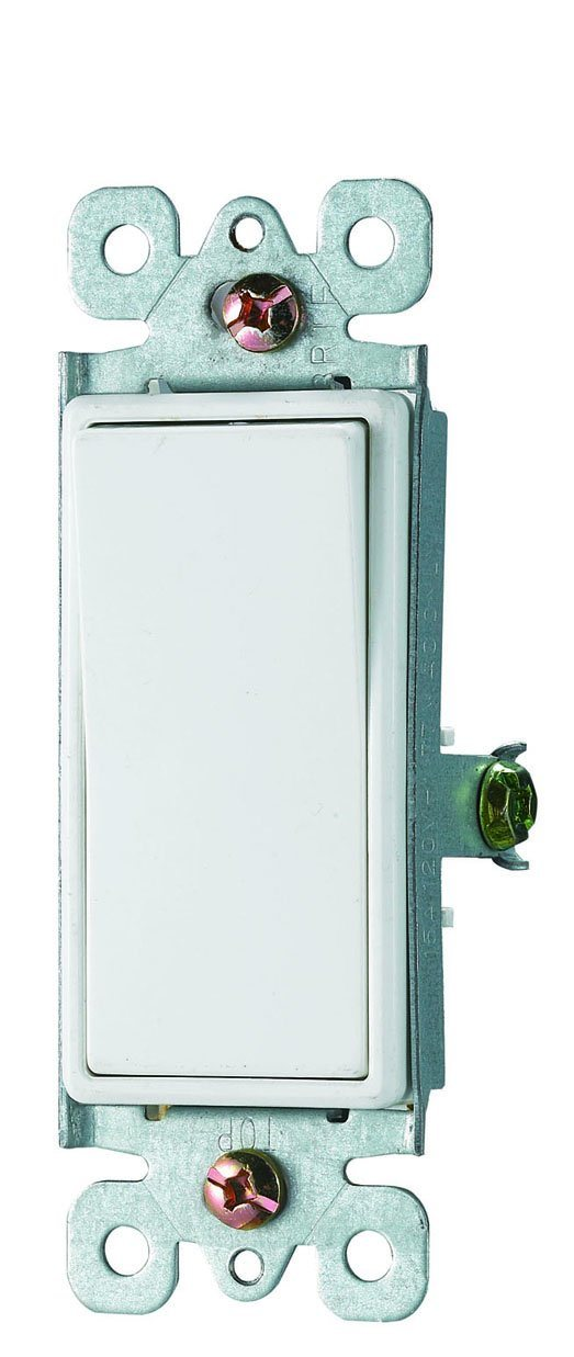 15A 120/277V Decora Rocker 3-Way Switch, Residential Grade, UL/cUL