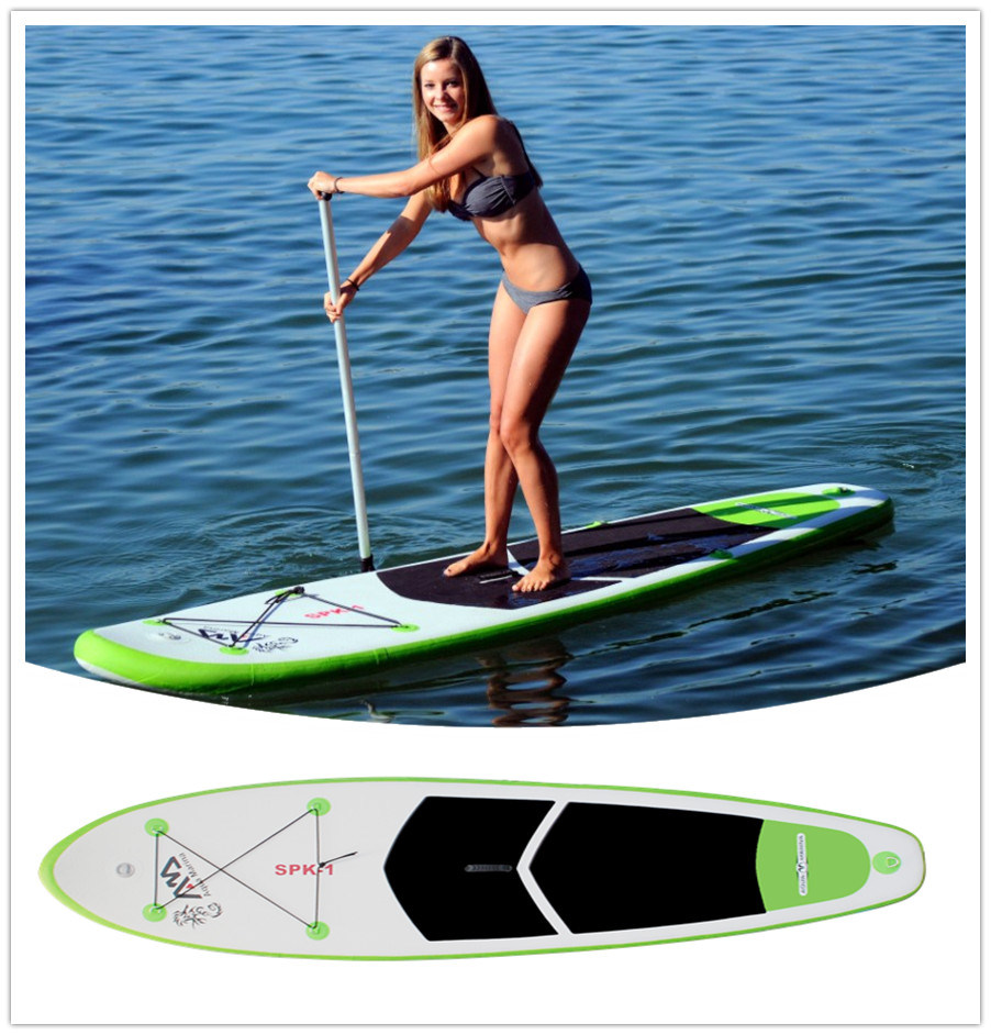 China aqua marina spk1 bt 88867 67p inflatable sup board for Inflatable fishing paddle board